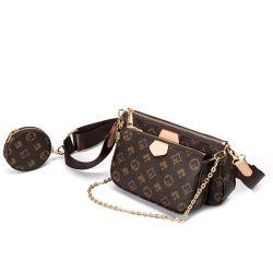 حقيبة فاخرة أنيقة 1: 1 جلد Mahong حقيبة الكتف حقيبة اليد سيدة مع حلايات