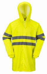OEM/Custom de Veiligheid die van Pu de Weerspiegelende Laag van Rainsuit/van de Regen kleden
