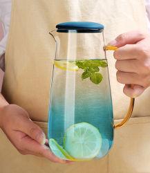 Homeware banheira de água fria beber chá de parede de vidro borossilicato Pot chaleira jarra 1500ml 1800ml