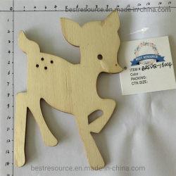 Houten Carving Craft Hanging Santa Claus Elf Deer voor Kerstmis En Home Decoration