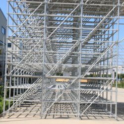 HDG الفولاذ رنغلوك السقالات الطبقة السقفية قلادة قطرية برايس