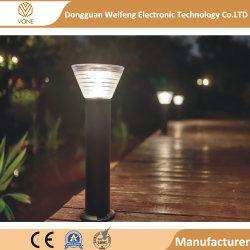 高品質優秀なIP65 30/60/80 cmの高さLEDのボラードの芝生ライトアルミニウム+アクリルの屋外の庭の照明