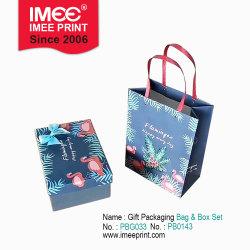 Imee ha personalizzato il contenitore ed il sacchetto stabiliti di imballaggio del regalo resi personale illustrazioni originali creative del fenicottero di disegno maggiori