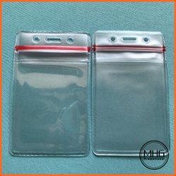 플라스틱 투명 수직 ID 카드 홀더 카드 홀더