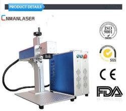 20W de alta eficiencia económica CNC marcadora láser de fibra de plástico/metal/PVC/Composites/Chrome