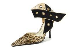 Pompa sexy dell'alto tallone della stampa del leopardo per le donne