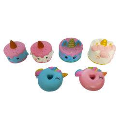 L'unicorno Mixed di Squishies agglutina i giocattoli aumentanti lenti Squishy dell'unità di elaborazione di serie