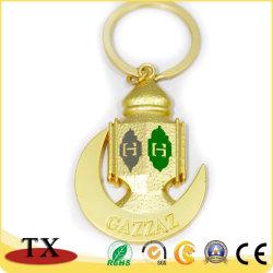 Qualitäts-spezielle Form-Metallzink-Legierungs-Schlüsselkette im Gold