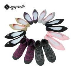 Les fabricants de chaussures femmes Soft Flat chaussette avec caoutchouc Chaussures Douce dame chaussures occasionnel Pas de colle et aucune trace de chaussures cousues