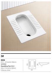 Reeks van de Hurkzit van de badkamers de Ceramische met Trapway (Nr 3)