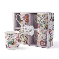 China personalizadas tazas de té de la fábrica de porcelana taza de promoción de los conjuntos de regalo