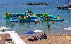 0, 55mm de Nylon PVC personalizado con Piscina castillo inflable en la playa Parque Acuático hinchable de juguete