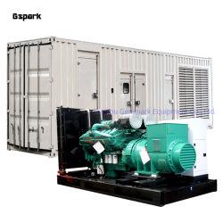مجموعة مولدات الطاقة الكهربائية الصامتة المصنعة من المصنع مولد الديزل 720كيلو واط 900 كيلو فولت أمبير مع محرك Cummins Kta38-G2a