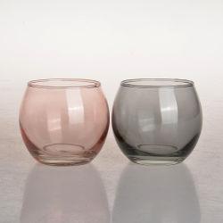 4 أونصات جديدة Deccrarecia Small Ball شفافة فارغة ملونة من الزجاج حاملات JAR لصنع الشمعة