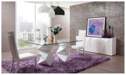 홈 가구 MDF 식당 유리 식사 테이블 세트 및 의자