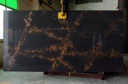 Pasta de gelo Cores Marble-Looking 3200*1800mm Calacatta Branco/Preto/Cinza/Artificial Projetado Pedra de quartzo Fábrica/fabricante piso de azulejos de parede