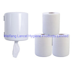 Rolos com extracção central papel-toalha puxe a Virgin Centro de alimentação de papel-toalha sobre a venda