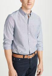 人のためのカスタム卸売100%のリネンずっと袖の合われ、快適な来られたワイシャツ