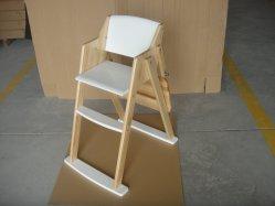 Bois massif chaise bébé Chaise haute chaise bébé Hi Dinning Président Fabricant Chaise haute pour bébé en bois pliable