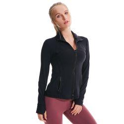 秋および冬のヨーロッパおよびアメリカのヨガの摩耗の女性の長袖の実行のスポーツの適性の衣類のヨガのジャケット