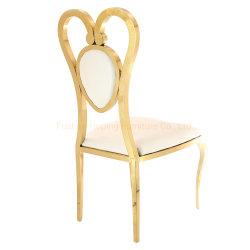 Love Heart Chair Wunderbare Design Metall Gold Hochzeit Bankettsessel