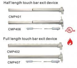 La longitud media barra táctil del dispositivo de salida de la puerta de Fuego