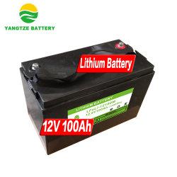 Envío gratuito de Yangtze 100Ah 12V de iones de litio baterías solares de silicio