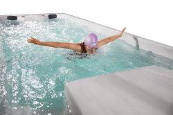 6m 8m SPA nadar Acrylic acima do solo em acrílico interminável Jacuzzi e Jardim Piscina o recipiente de água da piscina Inground acima do solo banheira de hidromassagem exterior preço