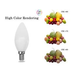 Indicatore luminoso di lampadina della candela di Dimmable C37 6W SMD2835 E14/E27 LED