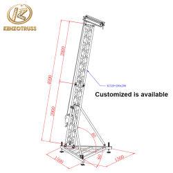 Алюминиевый линейный массив АС в корпусе Tower опорной стойки громкоговорителя для событий