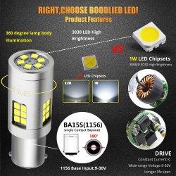 1156 Ba15s P21W 3030 LED SMD 30 ampoules LED 9-30V 20W ambre jaune pour sauvegarde auto voiture Clignotants feux arrière de la lampe de marche arrière