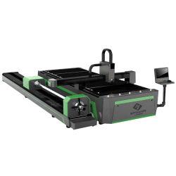 プレートおよびパイプファイバレーザー切断装置 1000W 1500W 2000W 3000W CNC ステンレススチール / 炭素鋼 / アルミシートメタルファイバレーザー カットチューブマシン
