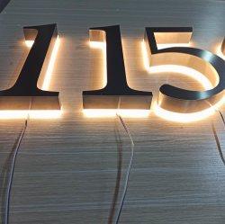 중국 주문품 금속 LED Backlit 외부 집 번호