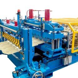 공장 가격 맞춤형 PLC 제어 색상 냉지붕 타일 제작 기계/광택 지붕 타일 기계/스텝 타일 지붕판 롤 성형 기계 제조업체