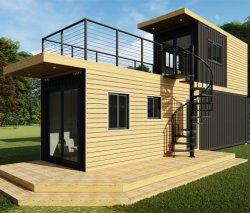 هيكل من الصلب المحتوي على وحدات 20 قدم و40 قدمًا ومريح ومسبق الصنع للحاويات للعطلة.