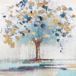 Goldapfelbaum-Ölgemälde des Segeltuch-Art. für Hauptdekoration. Ol-200701 Zoll der Größen-36X36