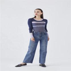 Rayures 100% laine Slim Femmes Pull