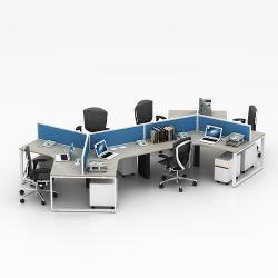 Fabrik-Zubehör-moderner Entwurfs-geöffnete verwendete Büro-Arbeitsplatz-Möbel für Person 6