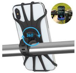 360 보편적인 전화 마운트 나침의 iPhone Smartphone 기관자전차 Anti-Slip 자전거 이동할 수 있는 홀더 실리콘 자전거 전화 홀더를 자전하십시오