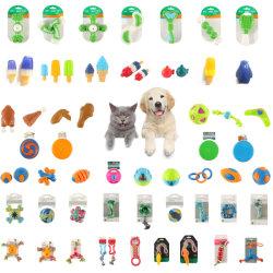 무료 샘플 도매 다색 내구성 바이트 방지 PET 고무 TPR 장난감 금고 및 천연 애완견 고무 볼 장난감 개 제품