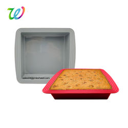 Wholesales Non-Stick silicona cuadrada Tarta y Brownie Pan