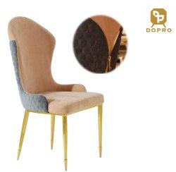 Moderner Entwurfs-Reißverschluss-Metallgold, das den Stuhl eingestellt für Hauptwohnzimmer-Möbel speist