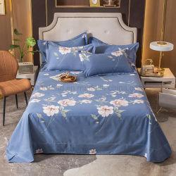 Nouveau produit Bedsheet Fashion Style coton tissu bleu acier brossé pour le linge de lit Twin imprimé