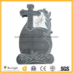 Estilos europeos costes baratos G654 de la piedra de granito gris/negro lápida monumento grave