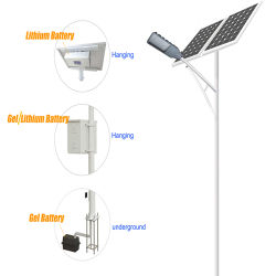 30W 40W 50W 60W 80W 100W 120W 태양 LED 가로등 12V/24V