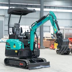 중국 최고의 공급자 소형 Bagger 1.4ton Te17 디젤 핫 세일 Yanmar 엔진 구동 유압장치 Crawler 미니 굴삭기(CE EPA 포함) 인증