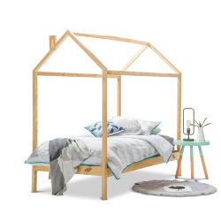 K1311 Casa de madera maciza de alta calidad de la cama con listones