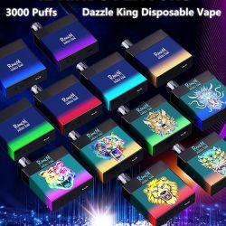 原物の Randm Dazzle 王 3000puff E のタバコの使い捨て可能な Vapeselectronic 100% タバコ 8.0ml ポッドグロー(ダーク LGB ライト 12 色 対バングプラスバング