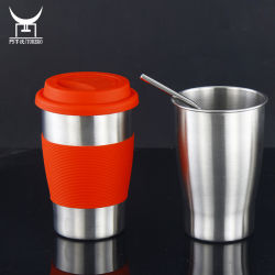 Roestvrijstalen Coffee Cup Mok Travel Camping Cup