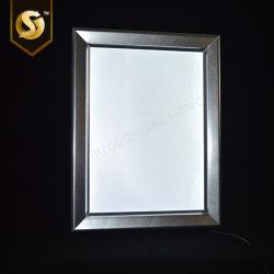 Caselle chiare luminose sottili ultra sottili dello schiocco LED del manifesto del commercio all'ingrosso alte
